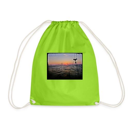SV Argo - Öresund Bridge sunrise - Drawstring Bag