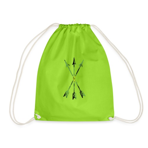 Scoia tael emblem green yellow black - Drawstring Bag