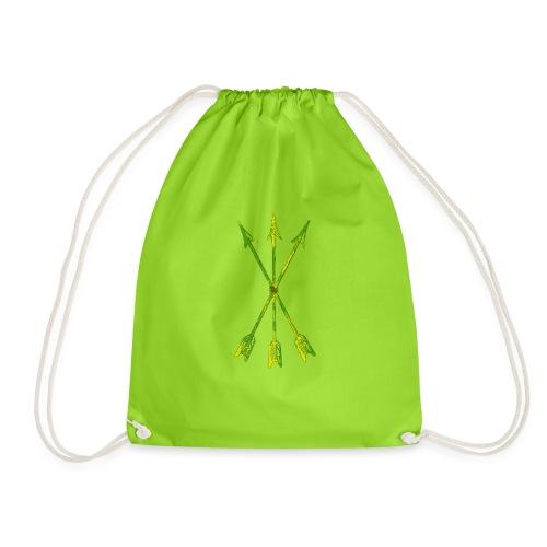 Scoia tael emblem green yellow - Drawstring Bag