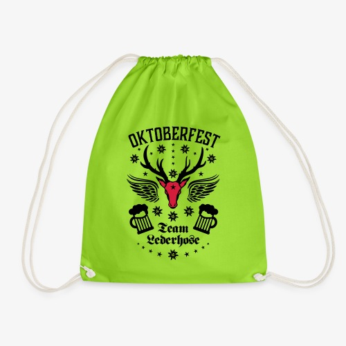03 Oktoberfest Hirsch Bier Team Lederhose Bayern - Turnbeutel