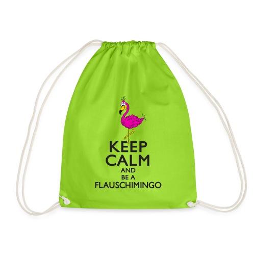 Keep calm and be a Flauschimingo - Turnbeutel