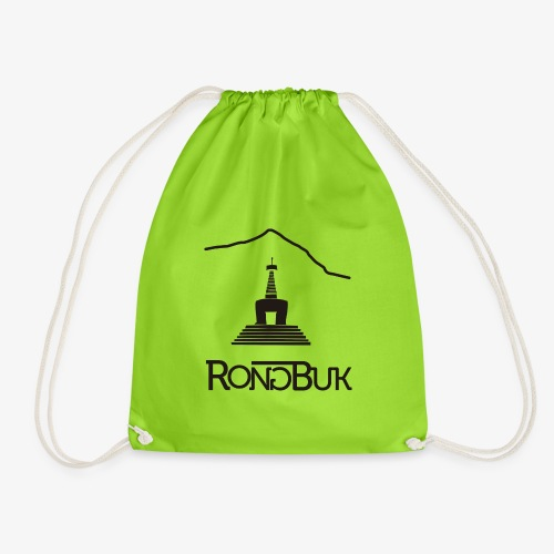 Rongbuk Black - Drawstring Bag