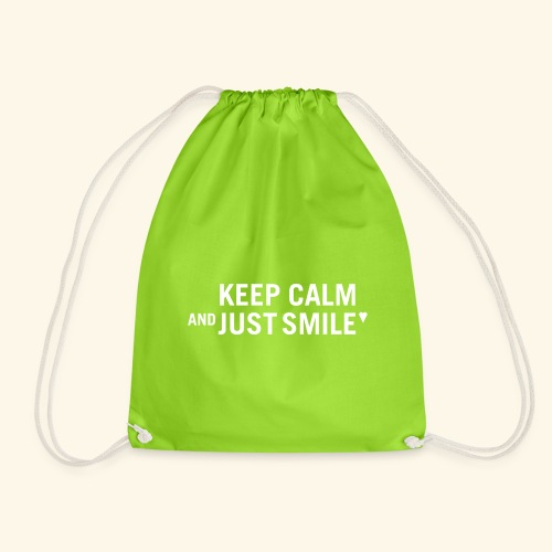 Keep calm and just smile - white - Turnbeutel