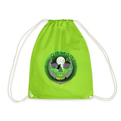 Rigormortiz Metallic Green Design - Drawstring Bag
