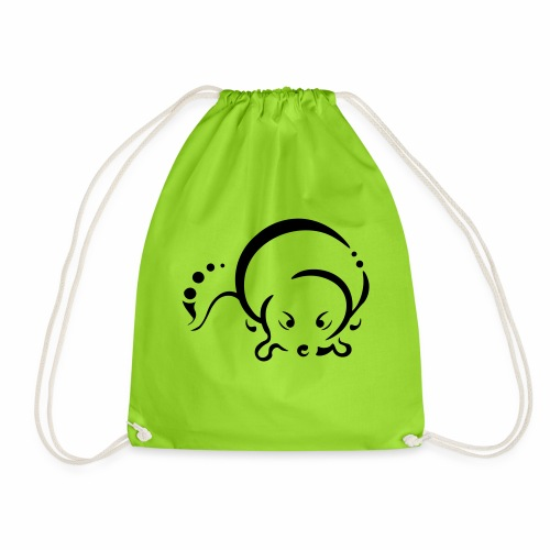 Otter, Tribal Design - Drawstring Bag