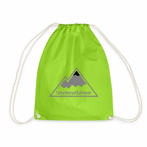Lonemountaineer logo blk - Drawstring Bag