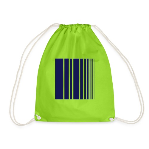 stripes blue - Drawstring Bag