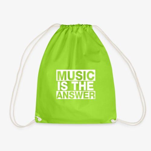 music is the answer - Mochila saco
