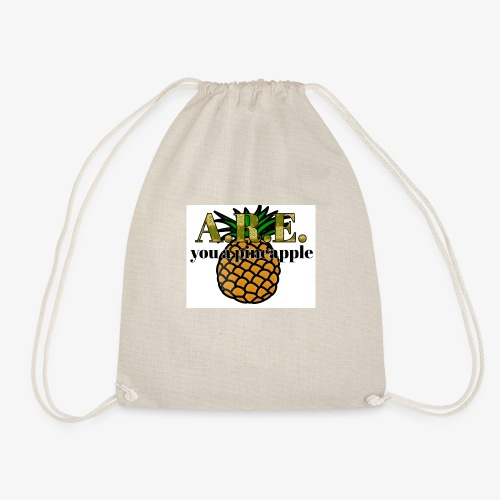 Are you a pineapple - Drawstring Bag