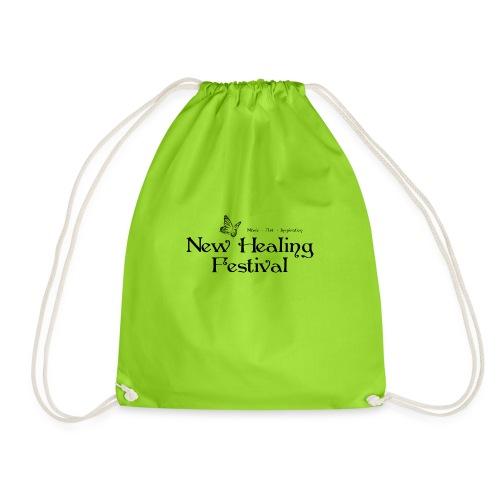 New Healing Logo schwarz - Turnbeutel