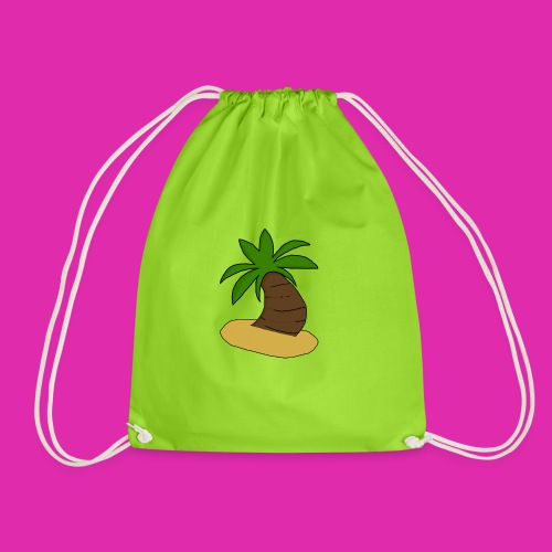 palm tree design - Drawstring Bag