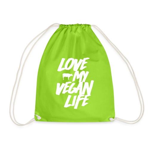 LOVE MY VEGAN LIFE - Drawstring Bag