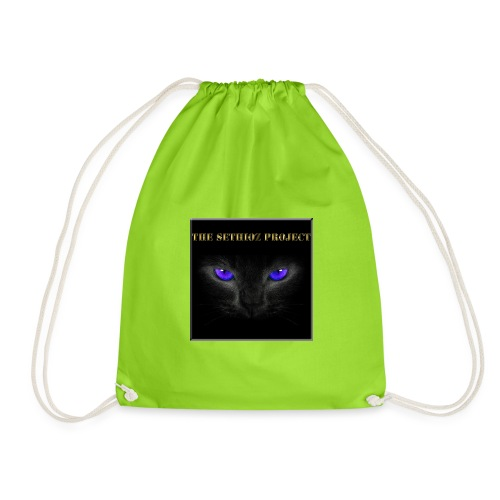 The Sethioz Project Black Cat - Drawstring Bag