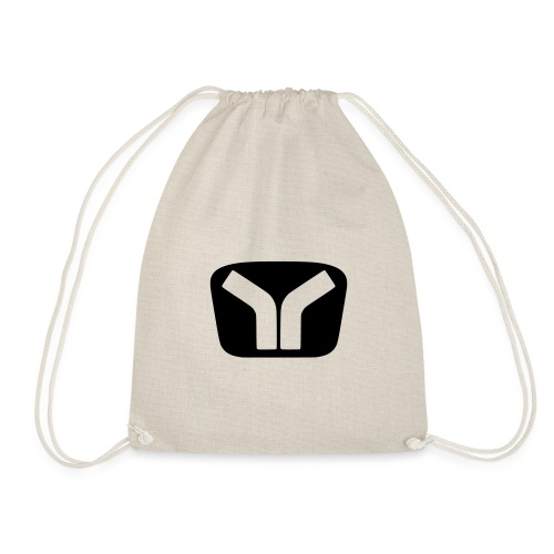 Yugo Logo Black-Transparent Design - Drawstring Bag