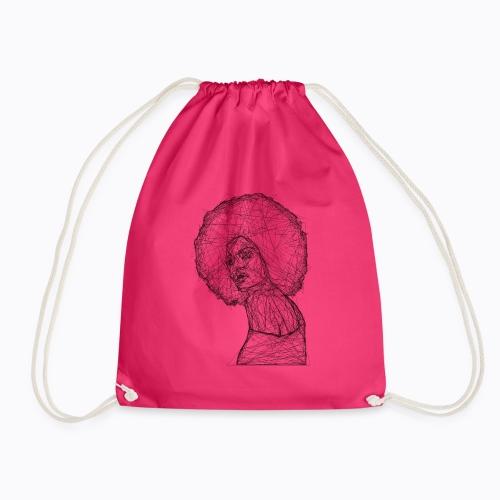 african afro - Drawstring Bag