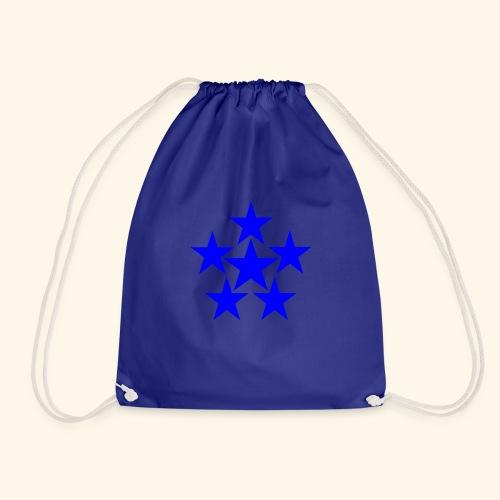5 STAR blau - Turnbeutel