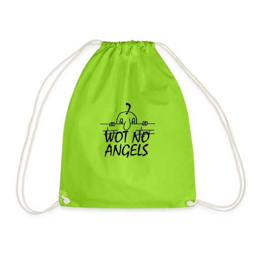WOT NO ANGELS - Drawstring Bag