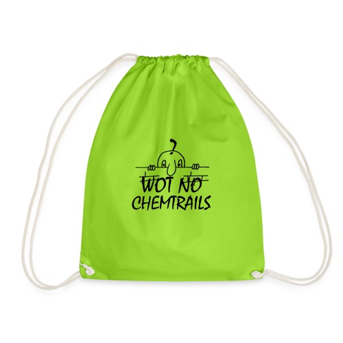 WOT NO CHEMTRAILS - Drawstring Bag