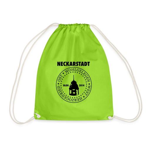 Neckarstadt Blog seit 2014 (Logo dunkel) - Turnbeutel