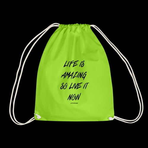 Life is amazing Samsung Case - Drawstring Bag