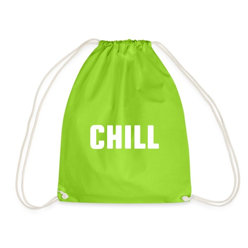 chill, tulfo and chill, netflix and chill,chilling - Drawstring Bag