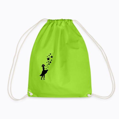 flower girl - Drawstring Bag