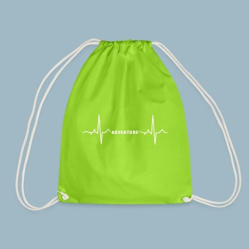 ECG long short white - Drawstring Bag