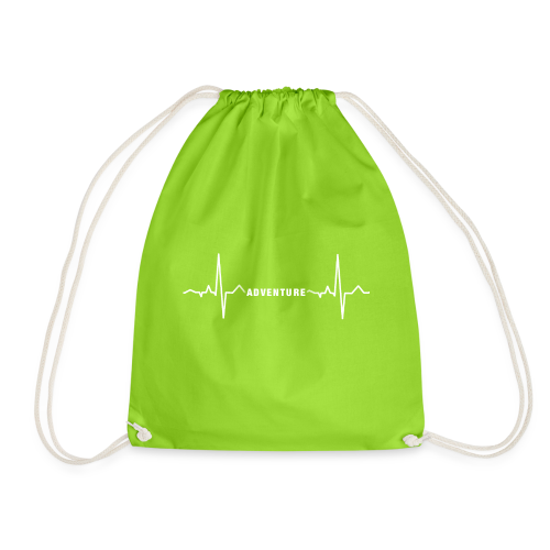 ECG long short white - Drawstring Bag