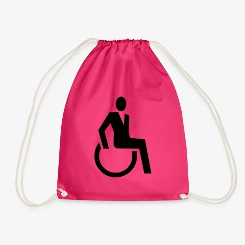 Sjieke rolstoel gebruiker symbool - Gymtas