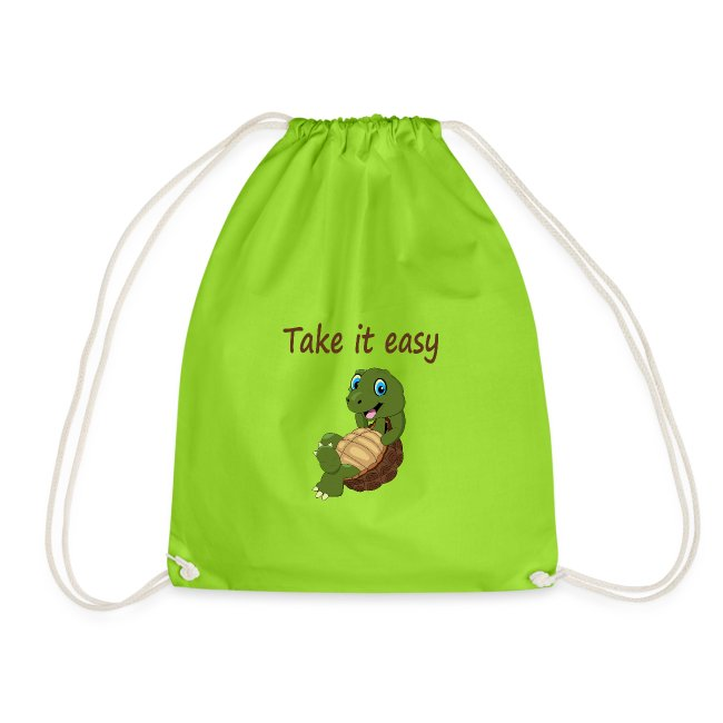 Take it easy met rustige schildpad