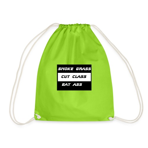 Smoke, Cut, Eat - Drawstring Bag