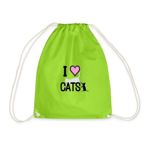 Tri-Blend I LOVE CATS T-Shirt - Sac de sport léger