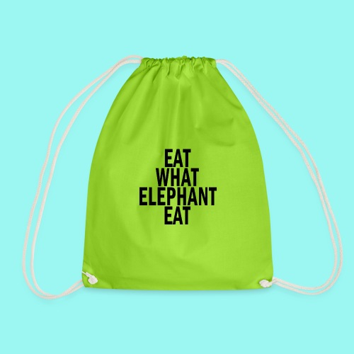 eat what elephant eat - Drawstring Bag