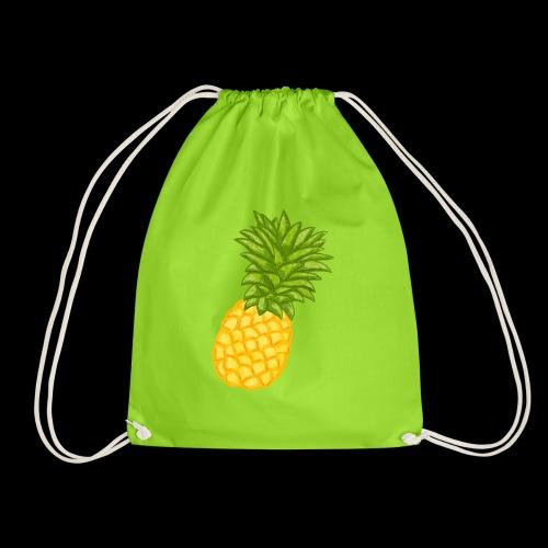 Ananas - Zeichnung - Turnbeutel