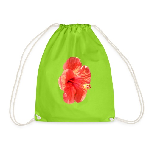 A red flower - Drawstring Bag