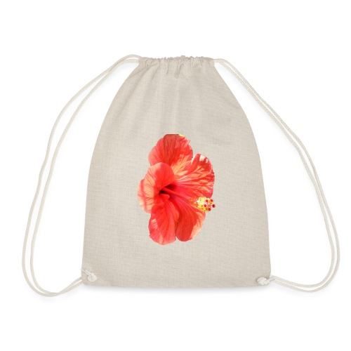 A red flower - Drawstring Bag