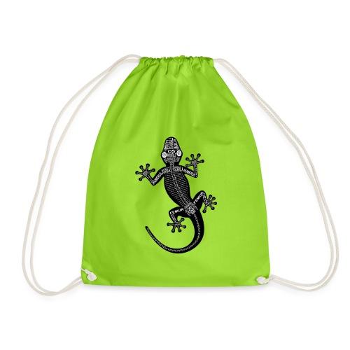 Gecko-Skelett - Drawstring Bag