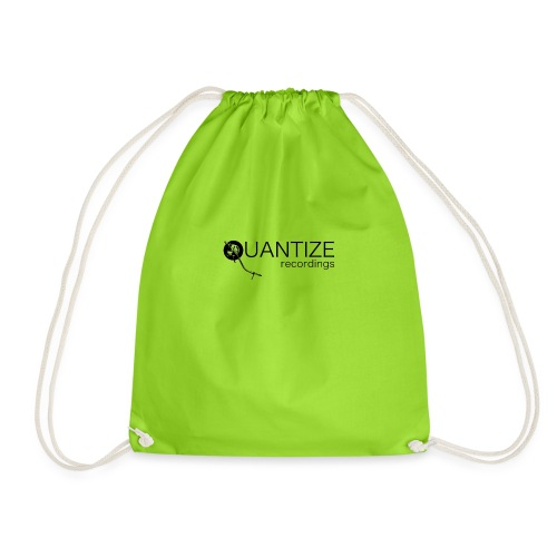 Quantize Black Logo - Drawstring Bag