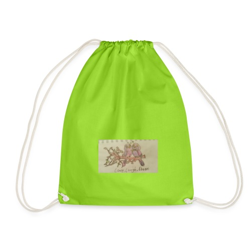 love, laugh. dream - Drawstring Bag