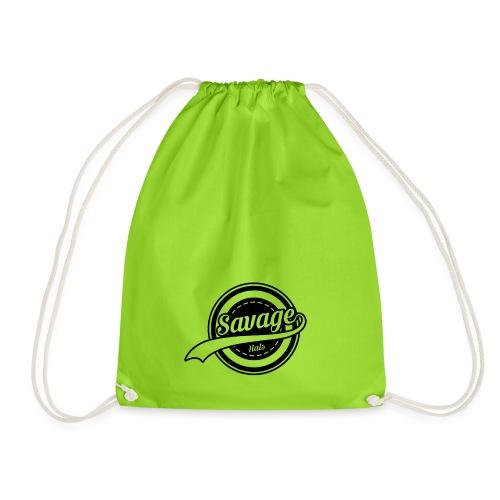 Savage Hals Balck Logo - Drawstring Bag