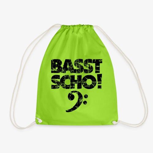 BASST SCHO! Bass Bassschlüssel Bassisten - Turnbeutel