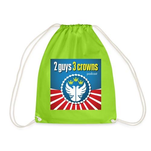 Official 2 Guys 3 Crowns Logo - Drawstring Bag