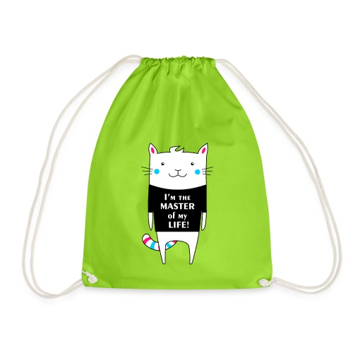 Cat I am the master of my life! - Drawstring Bag