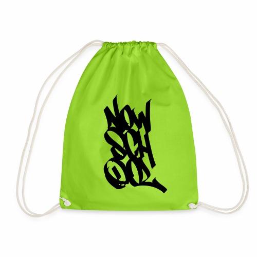 NowSchOol Marker Design (Black) - Drawstring Bag