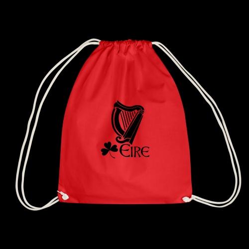 Irish Harp and Shamrock - Drawstring Bag