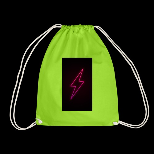 neon lighting copy - Drawstring Bag
