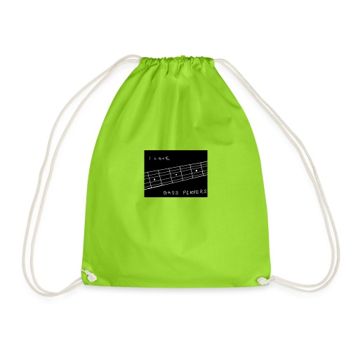I Love Bass Players - Drawstring Bag