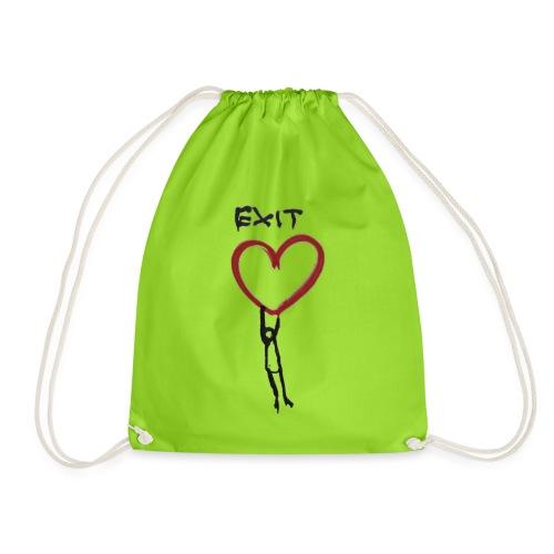 Exit love - Drawstring Bag