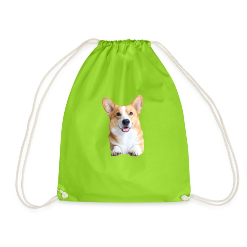 Topi the Corgi - Frontview - Drawstring Bag