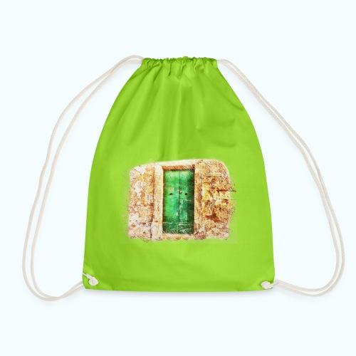 Vintage door - Drawstring Bag